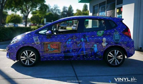 Super Disney Fan Reveals Spooky Car Wrap