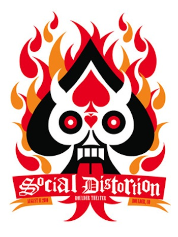 social distortion screen print band poster