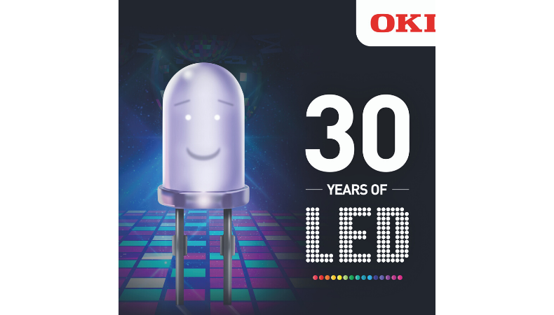OKI Europe celebrates 30 Years of LED technology