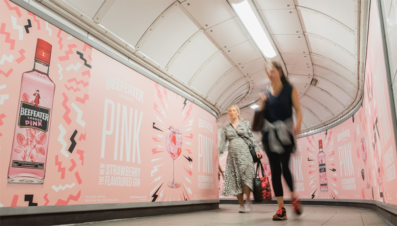 Sweet smell of success: strawberry-scented graphics on the London Underground