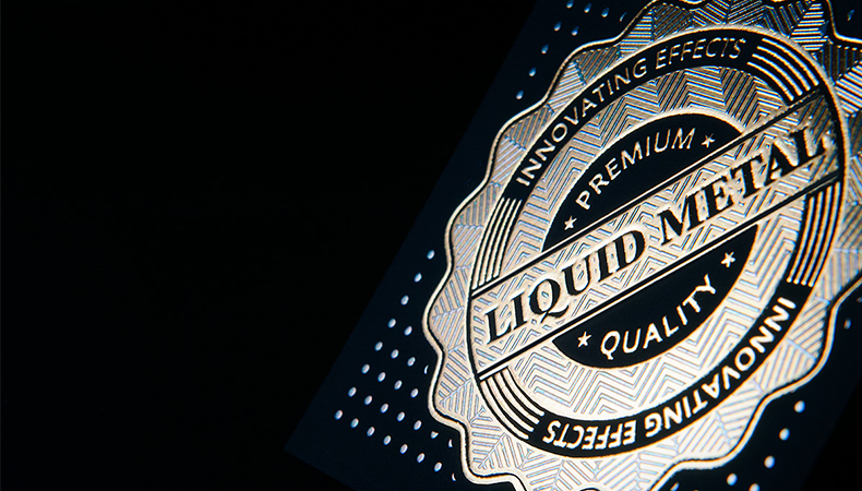Liquid metal: multicoloured cold foiling through screen printing