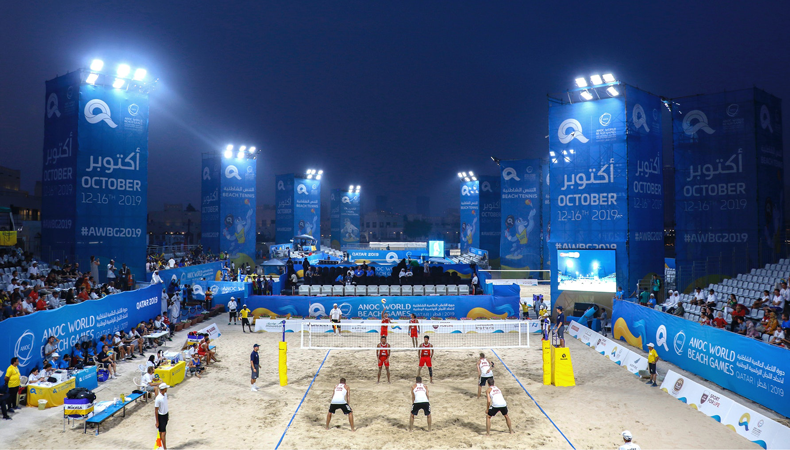 Roll-to-roll branding at the ANOC World Beach Games