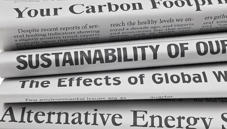 Sustainability monitoring for print businesses